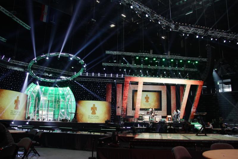 Spaladium je spreman za glazbeno - televizijski spektakl (Foto: Dario Njavro)